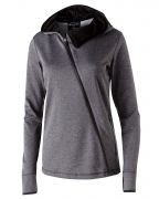 Holloway Ladies' Polyester Fleece Full Zip Hooded Artillery Angled Jacket