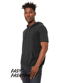 Bella + Canvas Fast Fashion Men's Jersey Short Sleeve Hoodie