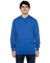 Beimar Unisex 4.5-ounce. Long-Sleeve Jersey Hooded T-Shirt