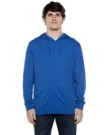 Beimar Unisex 4.5-ounce. Jersey Long-Sleeve Full-Zip Hooded T-Shirt