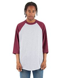 Shaka Wear Adult 6-ounce., 3/4-Sleeve Raglan T-Shirt
