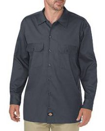 Dickies Men's FLEX Relaxed Fit Long-Sleeve Twill Work Shirt