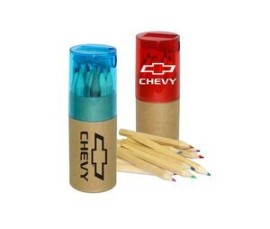 12 Piece Color Pencil Set With Sharpener