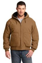 CornerStone® Washed Duck Cloth Insulated Hooded Work Jacket